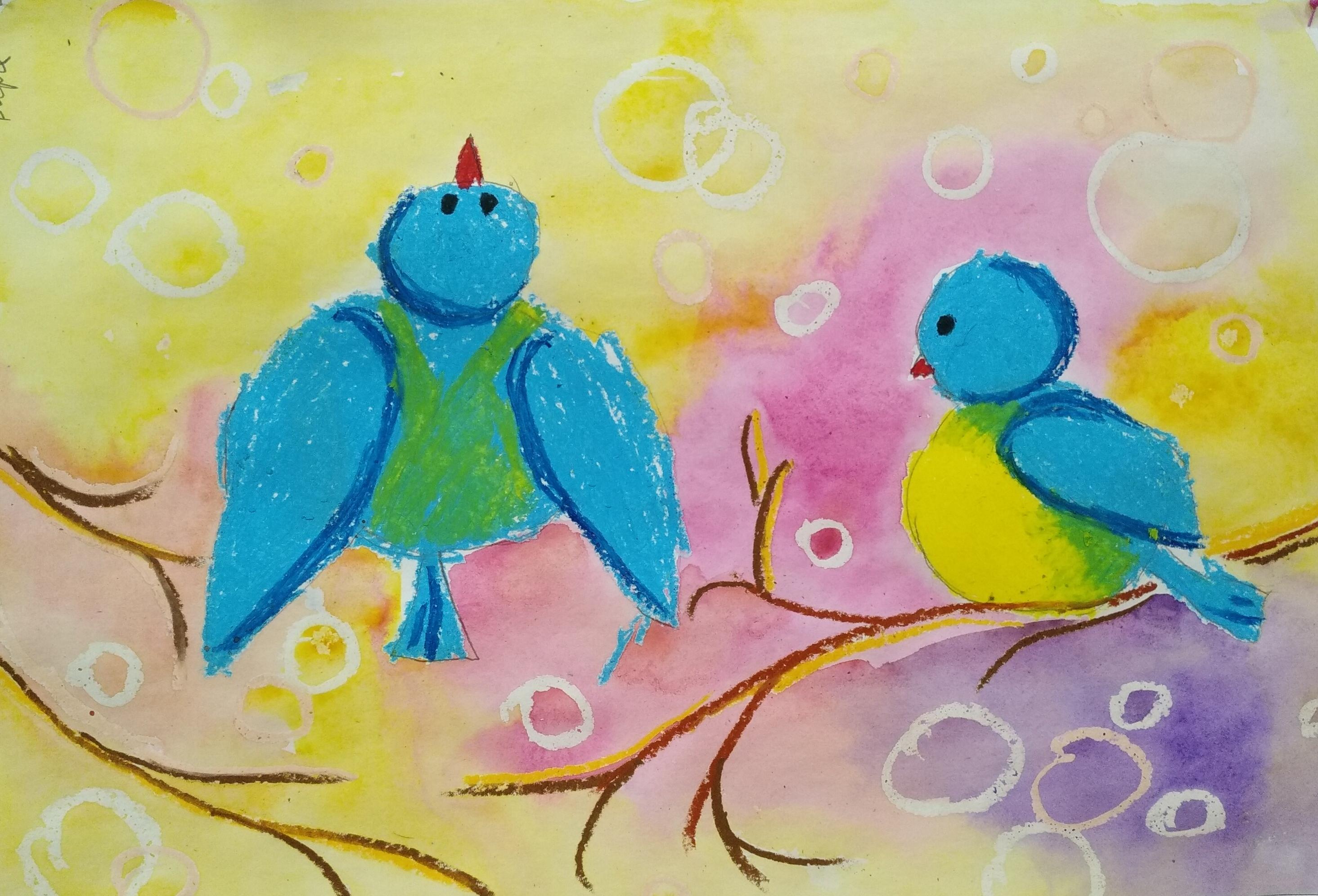 Выставка детских рисунков «Синичкин день»